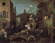 William Hogarth The auspices of the members of the election campaign china oil painting reproduction